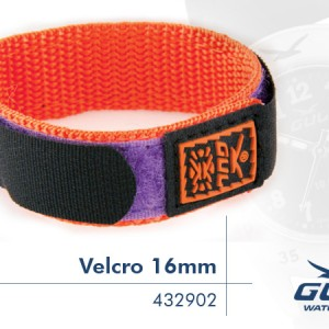 Orange/Black/Purple Velcro Strap 16mm