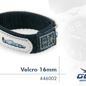 Blue/White Racing Car design 16mm Velcro Strap